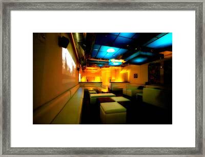 White Lounge Framed Print by Melinda Ledsome