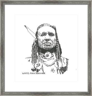White Man Runs Him Framed Print by Clayton Cannaday