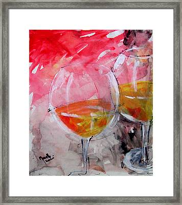 White Framed Print by Marcello Cicchini