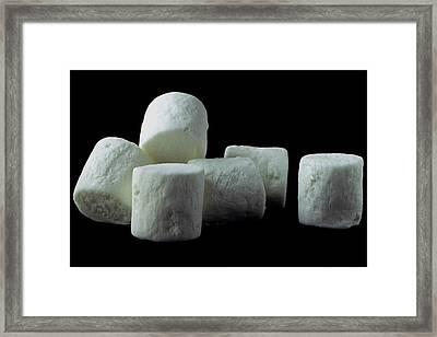 White Marshmallows Framed Print by Romulo Yanes