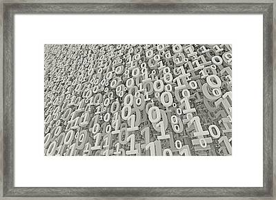White Matrix Framed Print by Vitaliy Gladkiy
