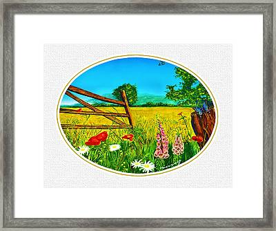 White Meadow  Framed Print by Russ Murry