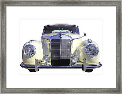 White Mercedes Benz 300 Luxury Car Framed Print by Keith Webber Jr