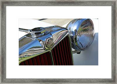 White Mg With Red Grille Framed Print by Mark Steven Burhart
