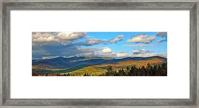 White Mountain Gold Framed Print