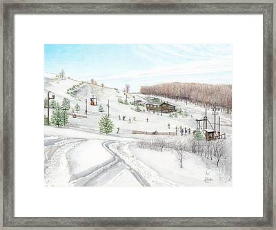 White Mountain Resort Framed Print by Albert Puskaric