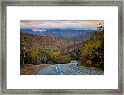 White Mountain Roads - New Hampshire Framed Print by Thomas Schoeller