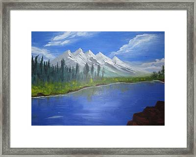 White Mountains Framed Print by Haleema Nuredeen