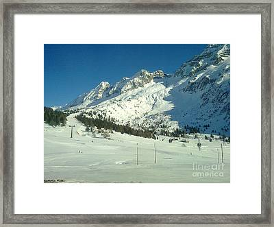 Framed Print featuring the photograph White Mountains by Ramona Matei