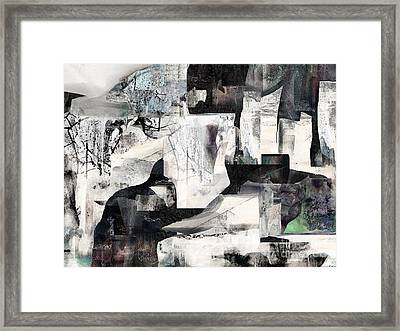White Night Framed Print