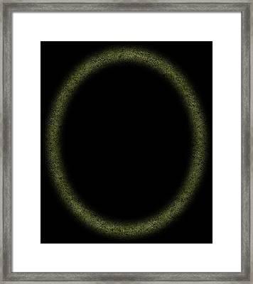White Noise In A Black Hole Framed Print