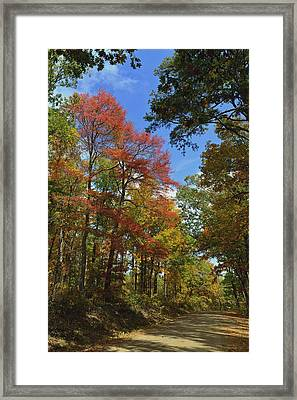 White Oak Mountain Colors Framed Print by Don Condley