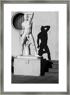 White On Black Framed Print by Thomas D McManus