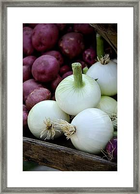 White Onions And Red Potatoes Framed Print by Julie Palencia
