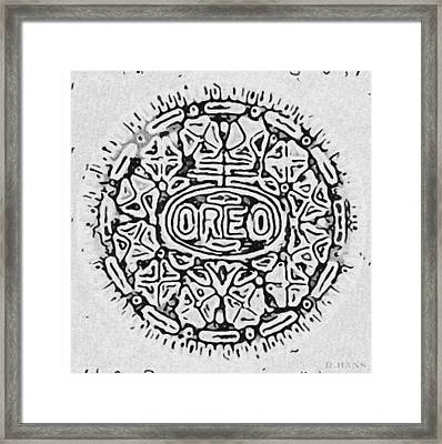 White Oreo Framed Print by Rob Hans