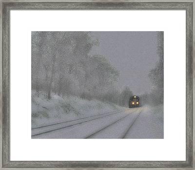 White Out Framed Print