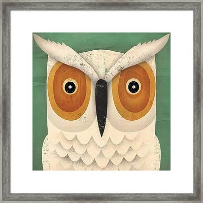 White Owl Framed Print by Ryan Fowler