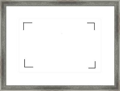 White Painting  Conceptual Framed Print by Jack Mackay
