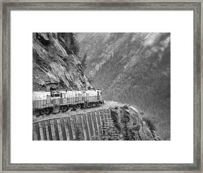 White Pass And Yukon Railroad Framed Print by Vicki Jauron