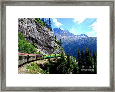 White Pass And Yukon Route Railway In Canada Framed Print by Catherine Sherman