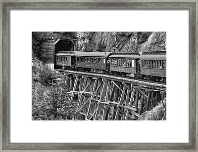 White Pass Railway Framed Print by Dawn Currie
