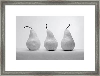 Framed Print featuring the photograph White Pears by Krasimir Tolev