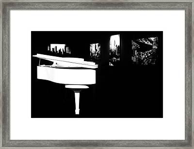 White Piano Framed Print by Benjamin Yeager