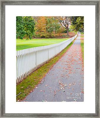 White Picket Fence Deerfield Ma Framed Print
