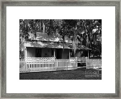 White Picket Fence Framed Print by Mel Steinhauer