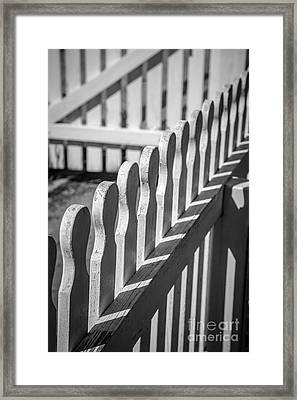 White Picket Fence Portsmouth Framed Print