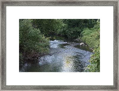 White Plains Stream Framed Print by John Telfer