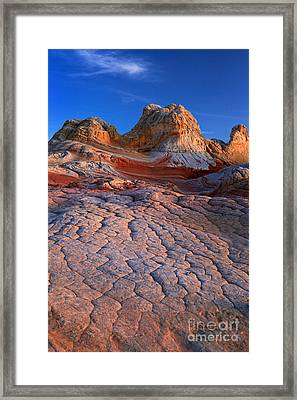 White Pocket Afterglow Framed Print by Inge Johnsson