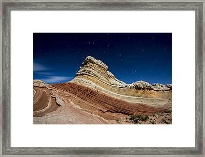 White Pocket By Moonlight Framed Print