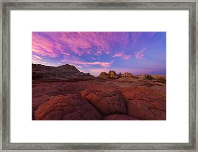 White Pocket Sunrise Framed Print
