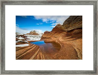 White Pocket Utah 2 Framed Print