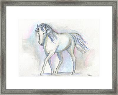White Pony Framed Print