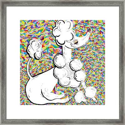 White Poodle Framed Print by Eloise Schneider