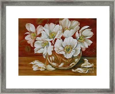 White Poppies Framed Print by Summer Celeste