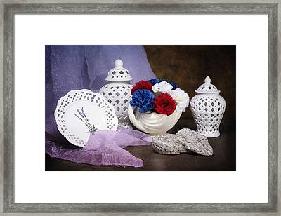 White Porcelain Still Life Framed Print