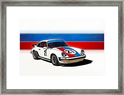 White Porsche 911 Framed Print