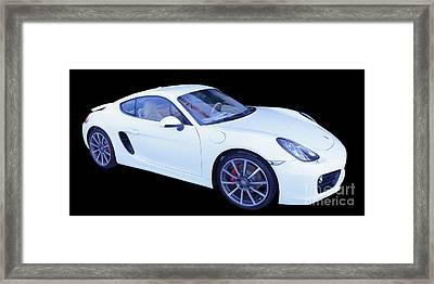 White Porsche Cayman S Framed Print