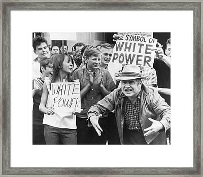 White Power Demonstrators Framed Print