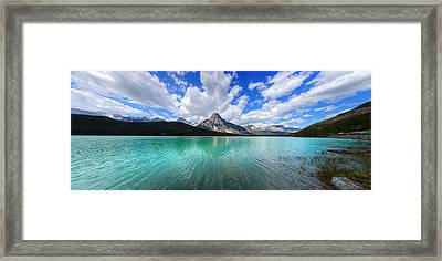 Framed Print featuring the photograph White Pyramid by David Andersen