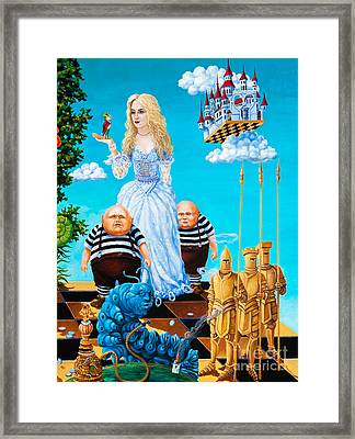 Framed Print featuring the painting White Queen. Part 3 by Igor Postash