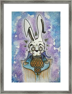 White Rabbit Framed Print by Ellen Henneke