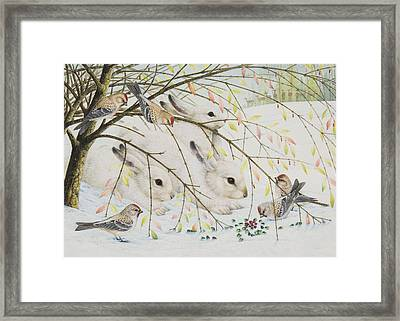 White Rabbits Framed Print by Lynn Bywaters