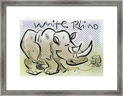 White Rhino Framed Print by Brett LaGue