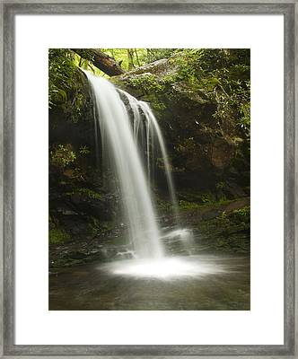 White Ribbon Framed Print by Andrew Soundarajan