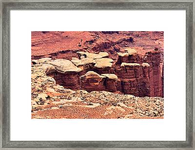 White Rim Detail Framed Print