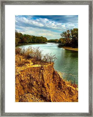 White River Erosion Framed Print by Julie Dant